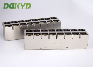 الصين Cat6 RJ45 Magnetics jack 1000 base T RJ45 Shielded Connector 2x4 dual deck 8 ports مصنع