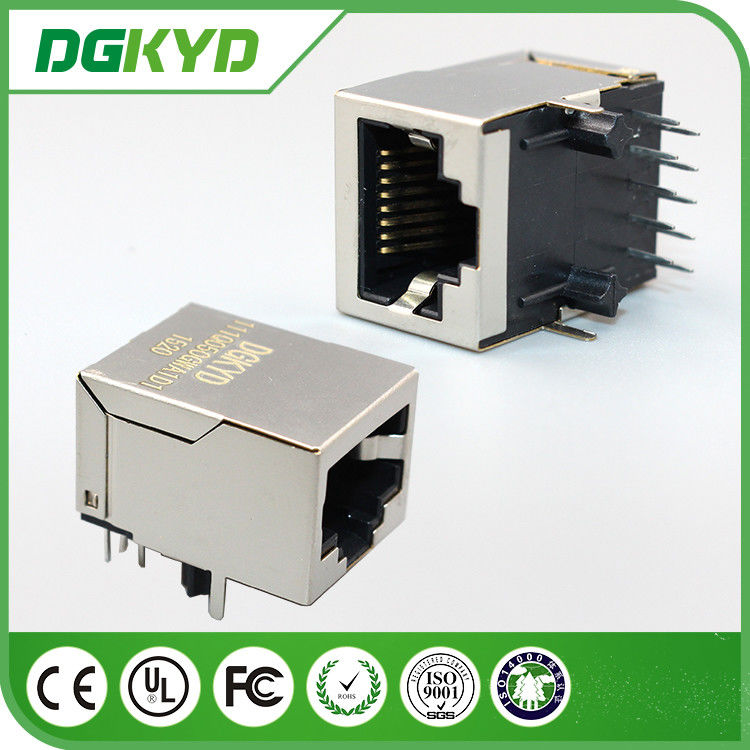 Integrated Surface Mount RJ45 Female Jack , 1000base t cat6 rj45 connector shielded
